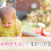 赤ちゃんの泣き声が大きい!辛かった生後半年まで。