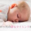 生後11ヶ月の昼寝、入眠時間など1日のスケジュール。兄弟がいると上の子に引っ張られる。